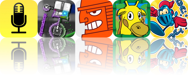 Today's Apps Gone Free: Audio Notebook, Push-Bot, Samurai Duel and More