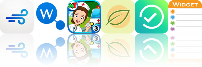 Today's Apps Gone Free: Asthmatic, WikiLinks, My Town: Hospital and More