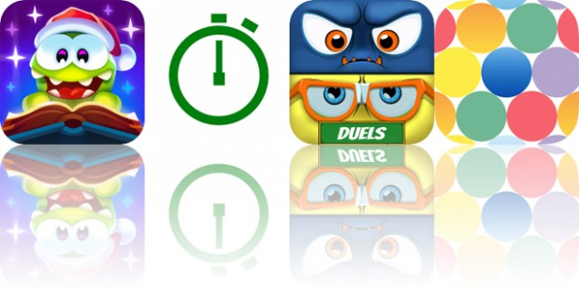 Today's Apps Gone Free: Cut the Rope: Magic, M Stopwatch, Monster Math Duels and More