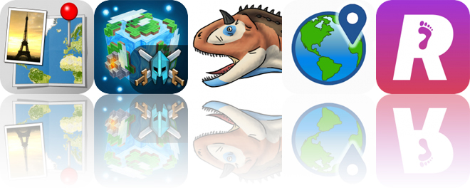Today's Apps Gone Free: Photo Mapo, Planet of Cubes, Pose and Draw Dinosaurs and More