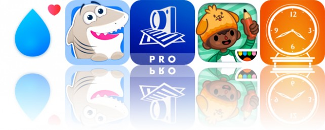 Today's Apps Gone Free: Water Reminder, Nice Shark, SharpScan and More