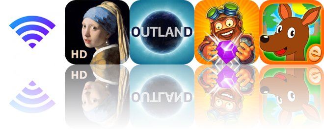 Today's Apps Gone Free: Wi-Fi Widget, Portrait Painting, Outland and More