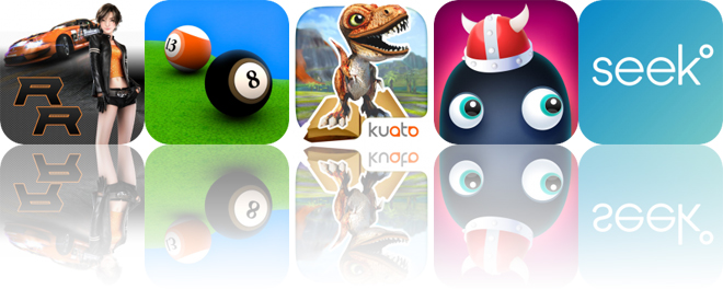 Today's Apps Gone Free: Ridge Racer Slipstream, Pool Break 3D, Dino Tales and More