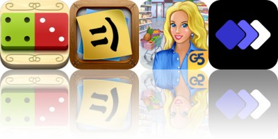 Today's Apps Gone Free: Domino Drop, Stickyboard 2, Supermarket Management 2 and More