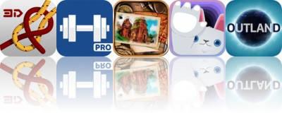 Today's Apps Gone Free: Knots 3D, Fitness Plus, The Lost Fountain and More