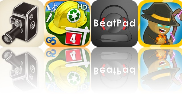 Today's Apps Gone Free: 8mm Vintage Camera, Build-A-Lot 4, BeatPad and More