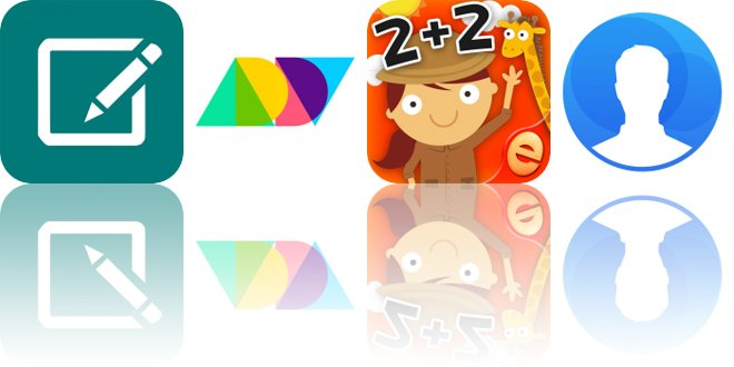 Today's Apps Gone Free: WonderNote, ADDY, Animal Math Games for Kids and More