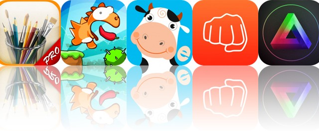 Today's Apps Gone Free: MyBrushes, Dino Rush, Farm Games and More