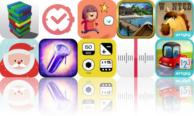 Today's Apps Gone Free: Wobbly Stack AR, aTimeLogger, Little Luca and More