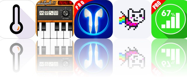 Today's Apps Gone Free: Thermometer X, miniSynth, Double Player and More