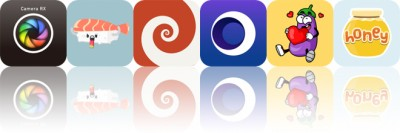 Today's Apps Gone Free: Camera RX, Sushi Stickers, HyperDroste and More