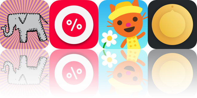 Today's Apps Gone Free: Happy Elephant Stickers, DiscountApp, Sago Mini Babies and More