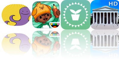 Today's Apps Gone Free: Happy Octopi Stickers, Toca Life: School, Plant Light Meter and More