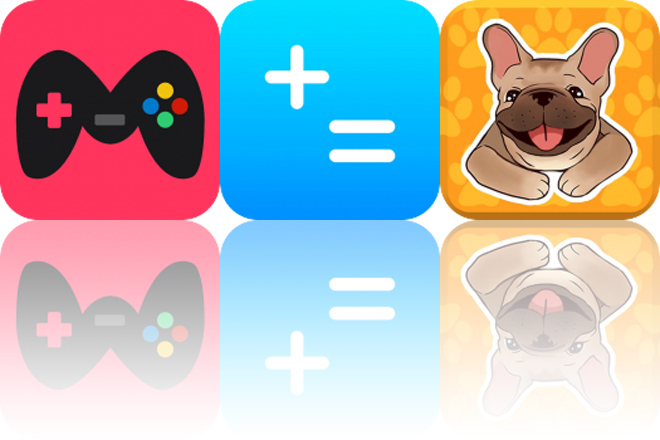 Today's Apps Gone Free: Mini Watch Games, Basic Calculator and French Bulldog Emojis Star