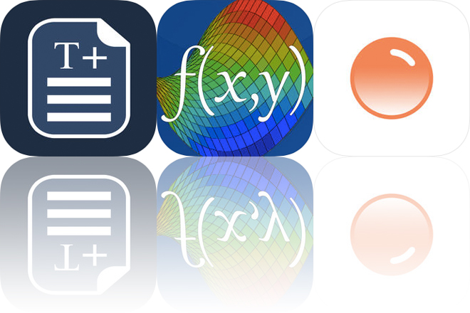 Today's Apps Gone Free: TextEdit+, Visual Math 4D and Poppinz