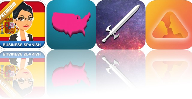 Today's Apps Gone Free: MosaLingua Business Spanish, Geography Duel, Heavy Blade and More