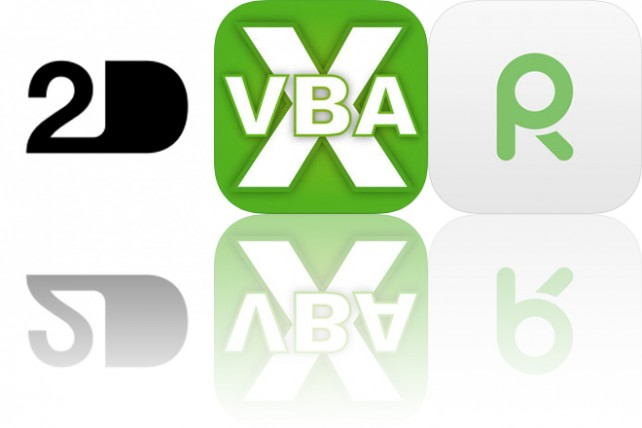 Today's Apps Gone Free: 2D, VBA Guide for Excel and Voice Record