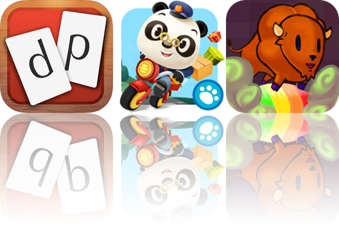 Today's Apps Gone Free: Double Play Word Games, Dr. Panda Mailman and Namaste Space Buffalo