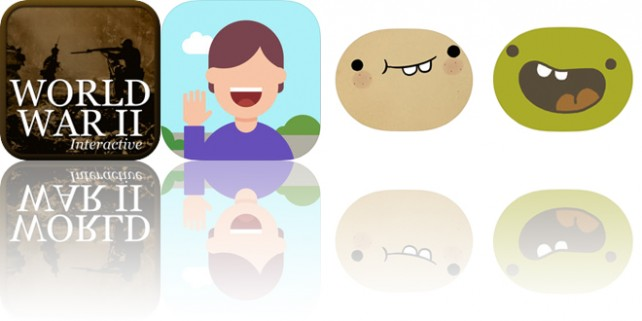 Today's Apps Gone Free: World War 2 History, Name Skillz, Potato Sticker Pack and More