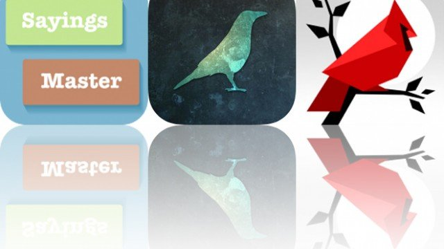 Today's Apps Gone Free: Sayings Master, Distressed FX and Cardinal Land