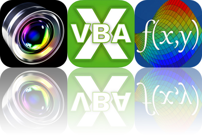 Today's Apps Gone Free: Fast Camera, VBA Guide and Visual Math 4D