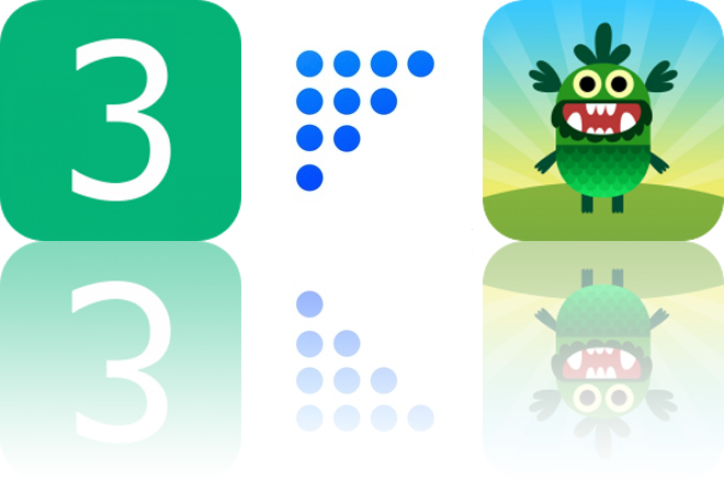 Today's Apps Gone Free: 3 Wins, Funnel and Teach Your Monster to Read