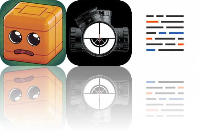 Today's Apps Gone Free: Marvin the Cube, SniperSight and Blink