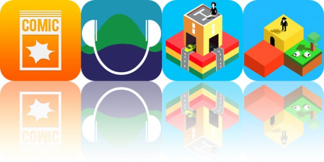 Today's Apps Gone Free: iComics, U4Ea, Blox 3D City Creator and More